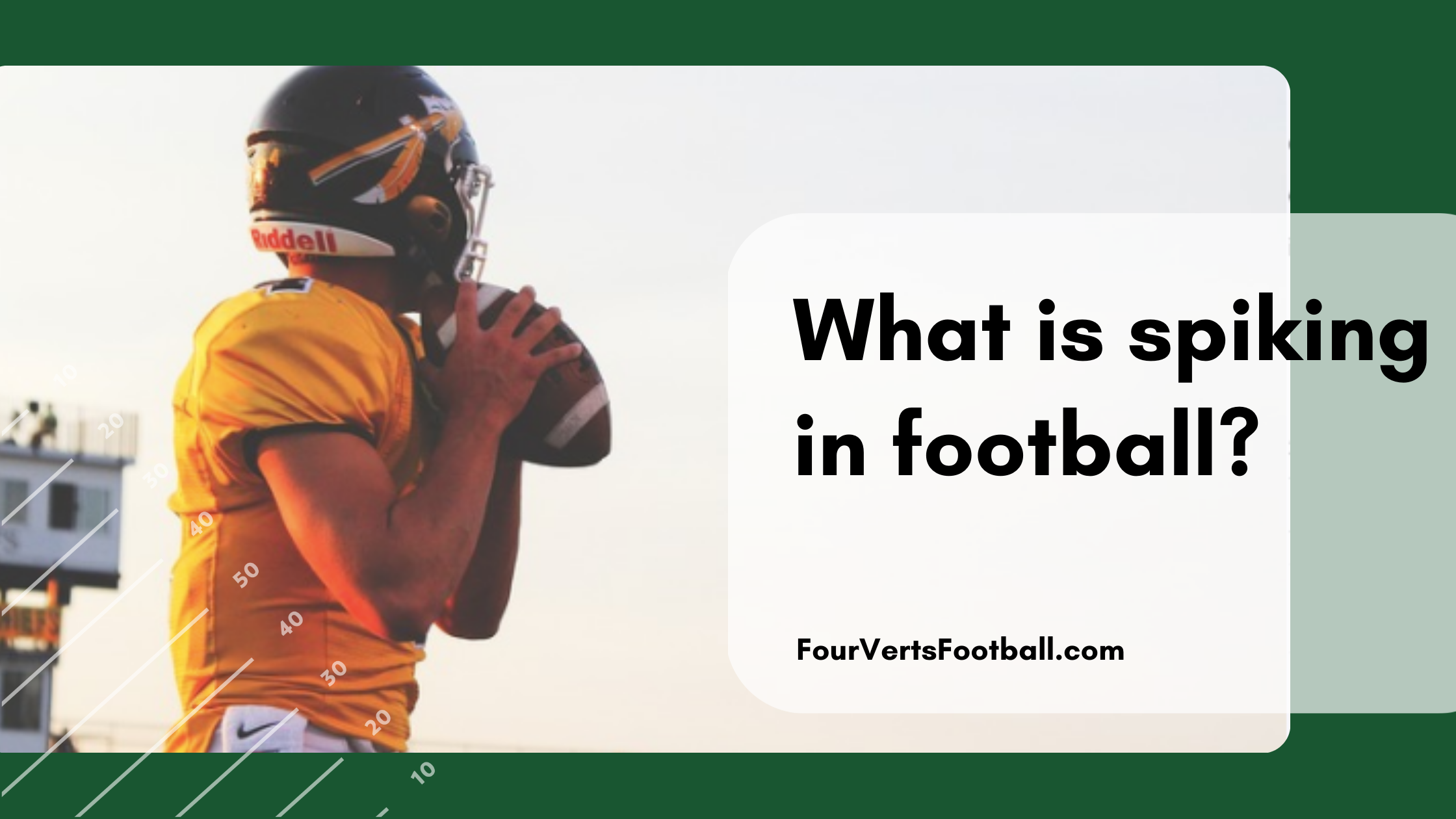 What is spiking in football