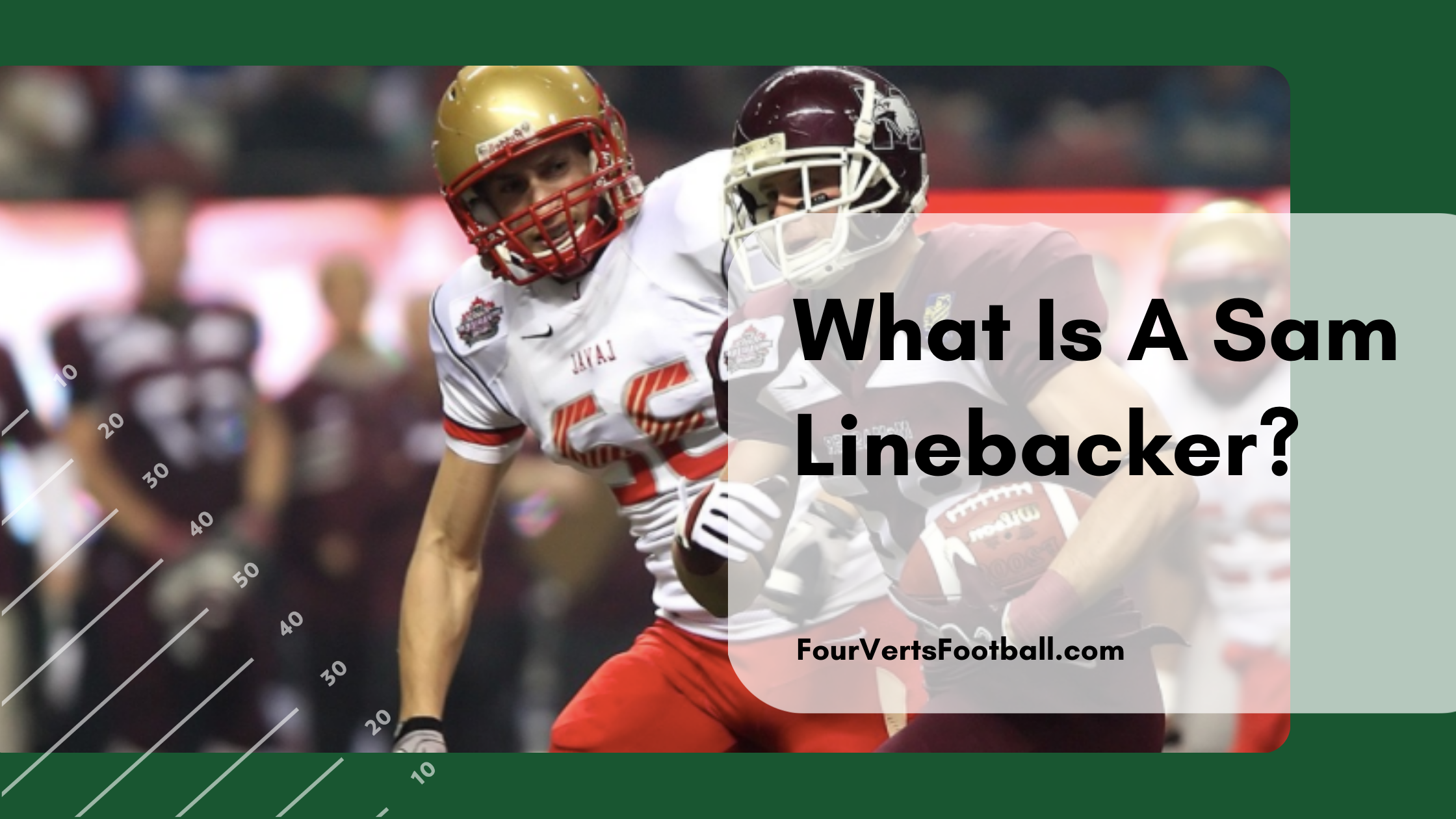 what is a sam linebacker