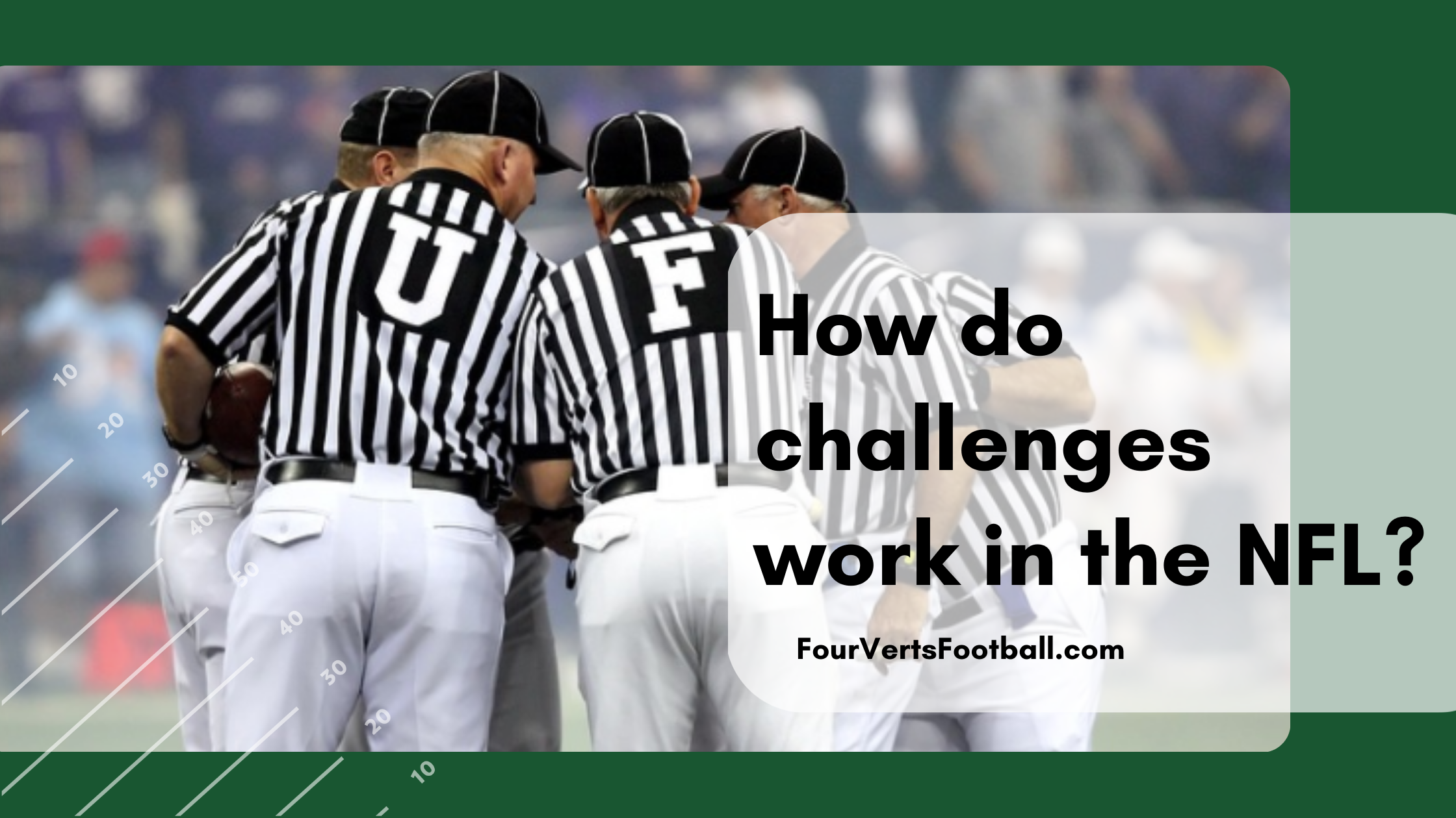 how do challenges work in football