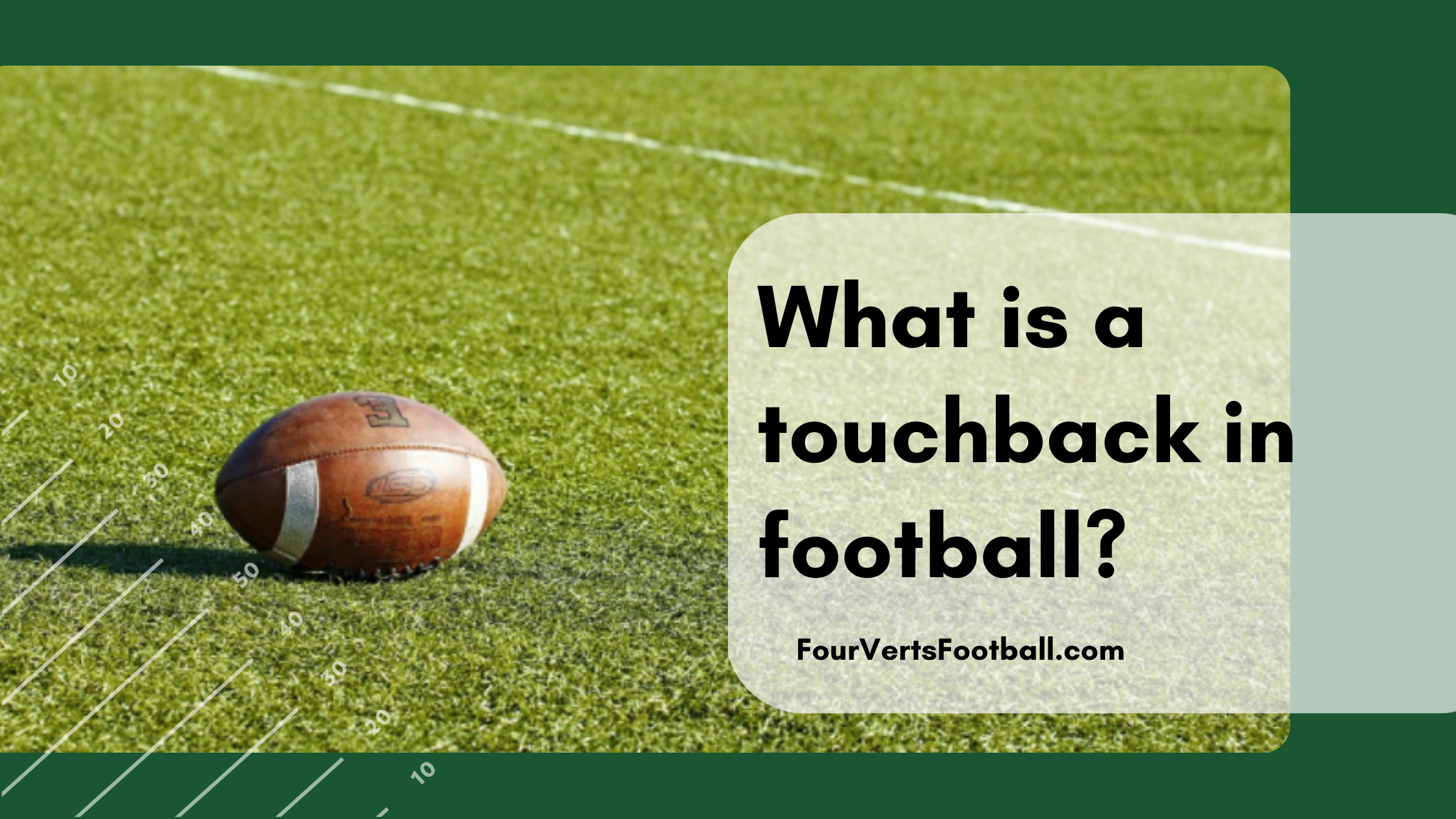 what is a touchback