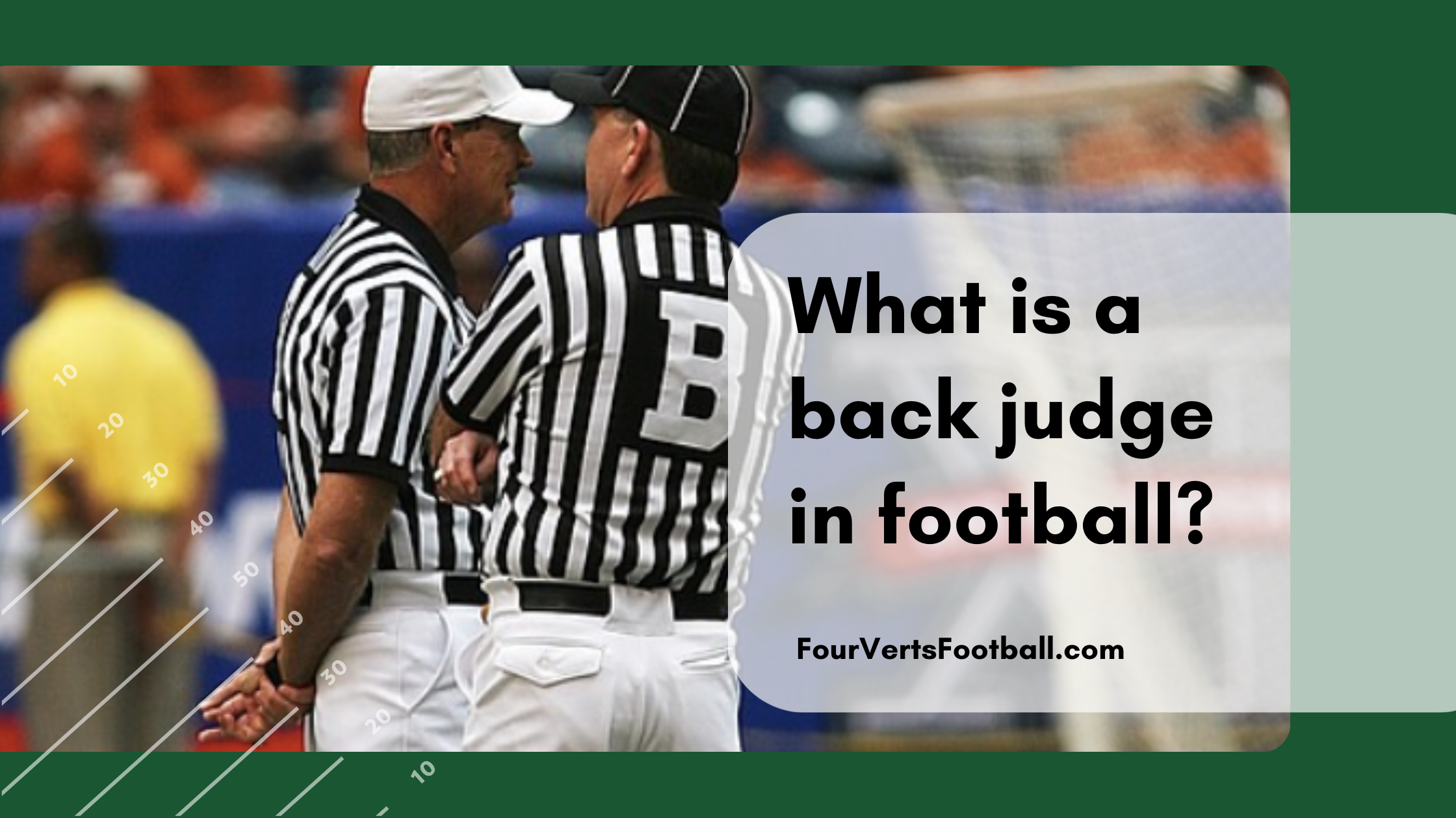 what is a back judge