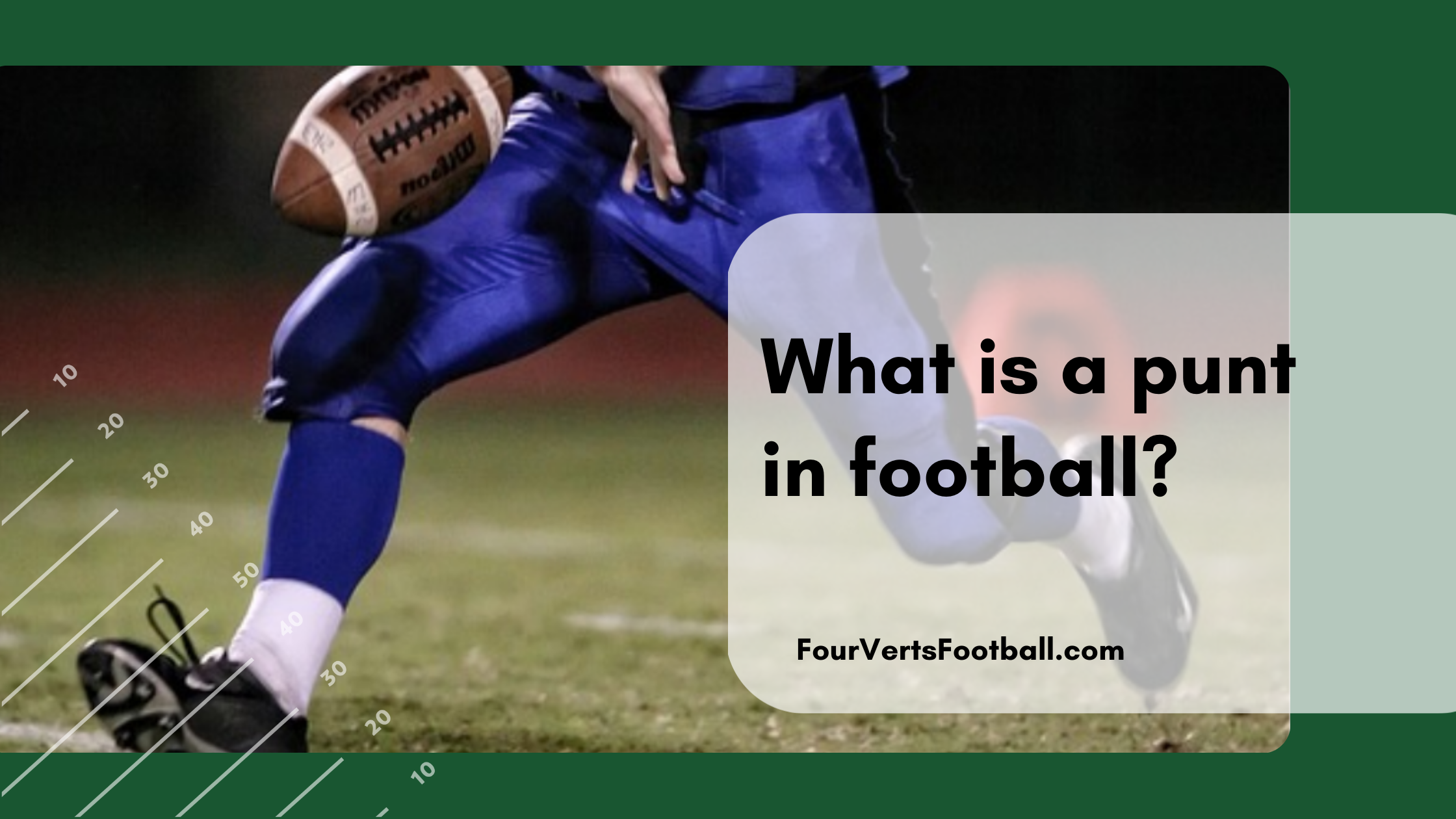 what is a punt in football