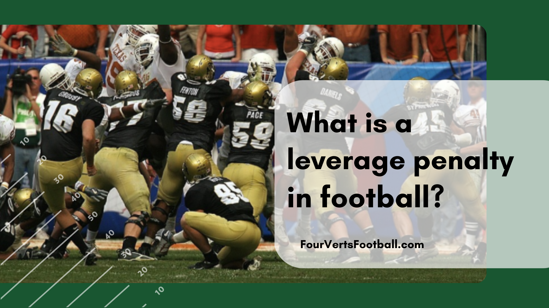 what is leverage in football