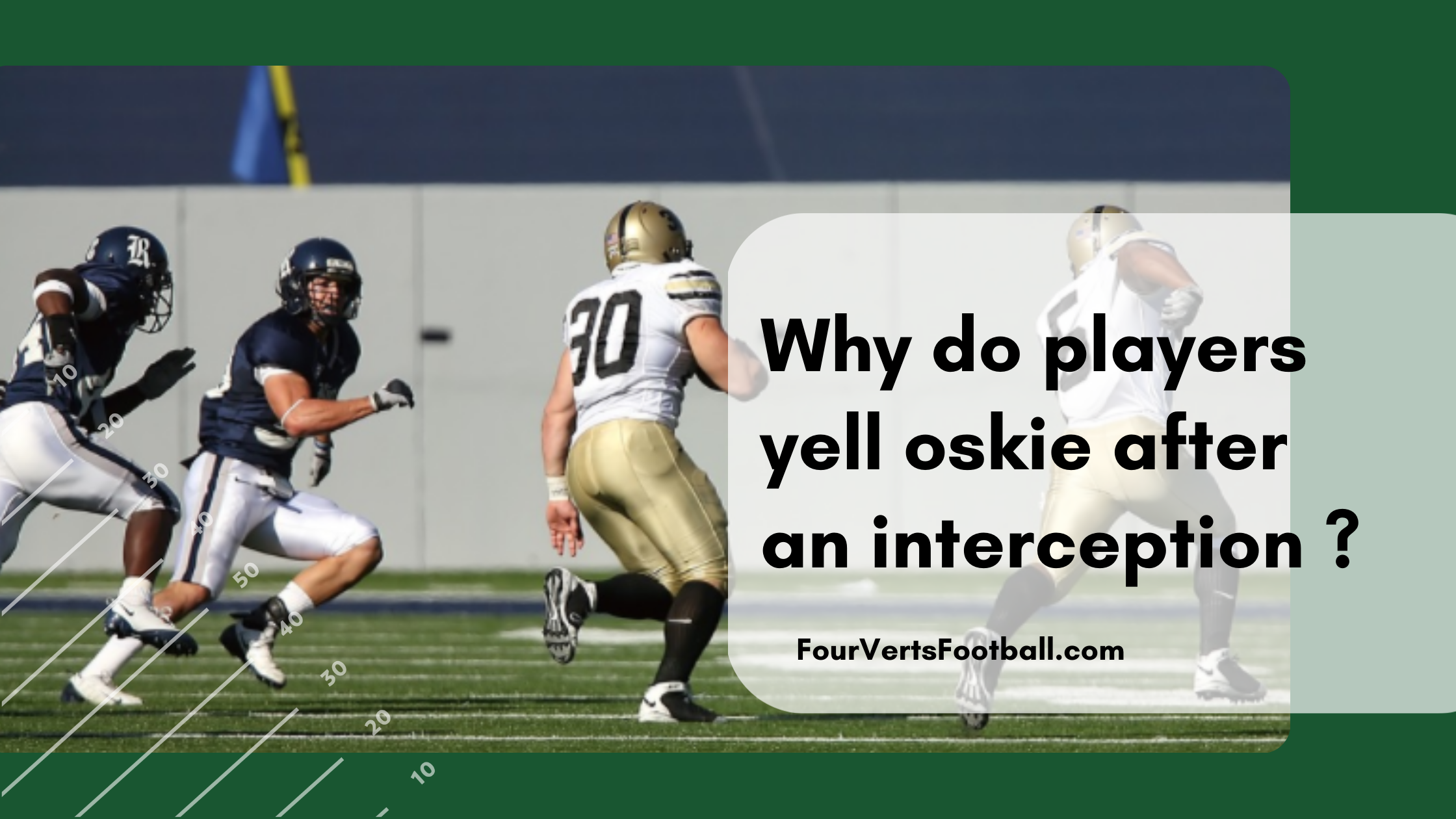why do players yell oskie