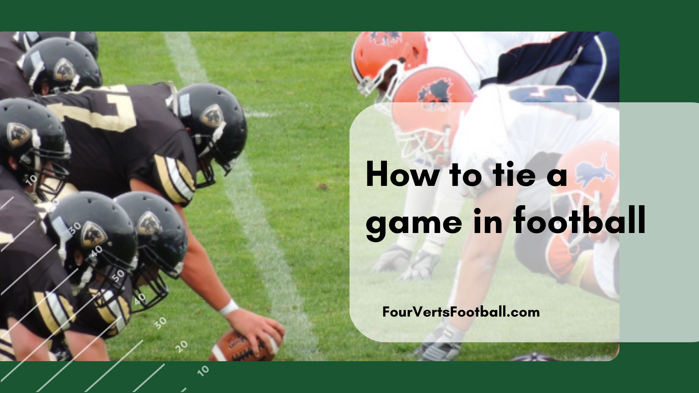 how to tie in american football