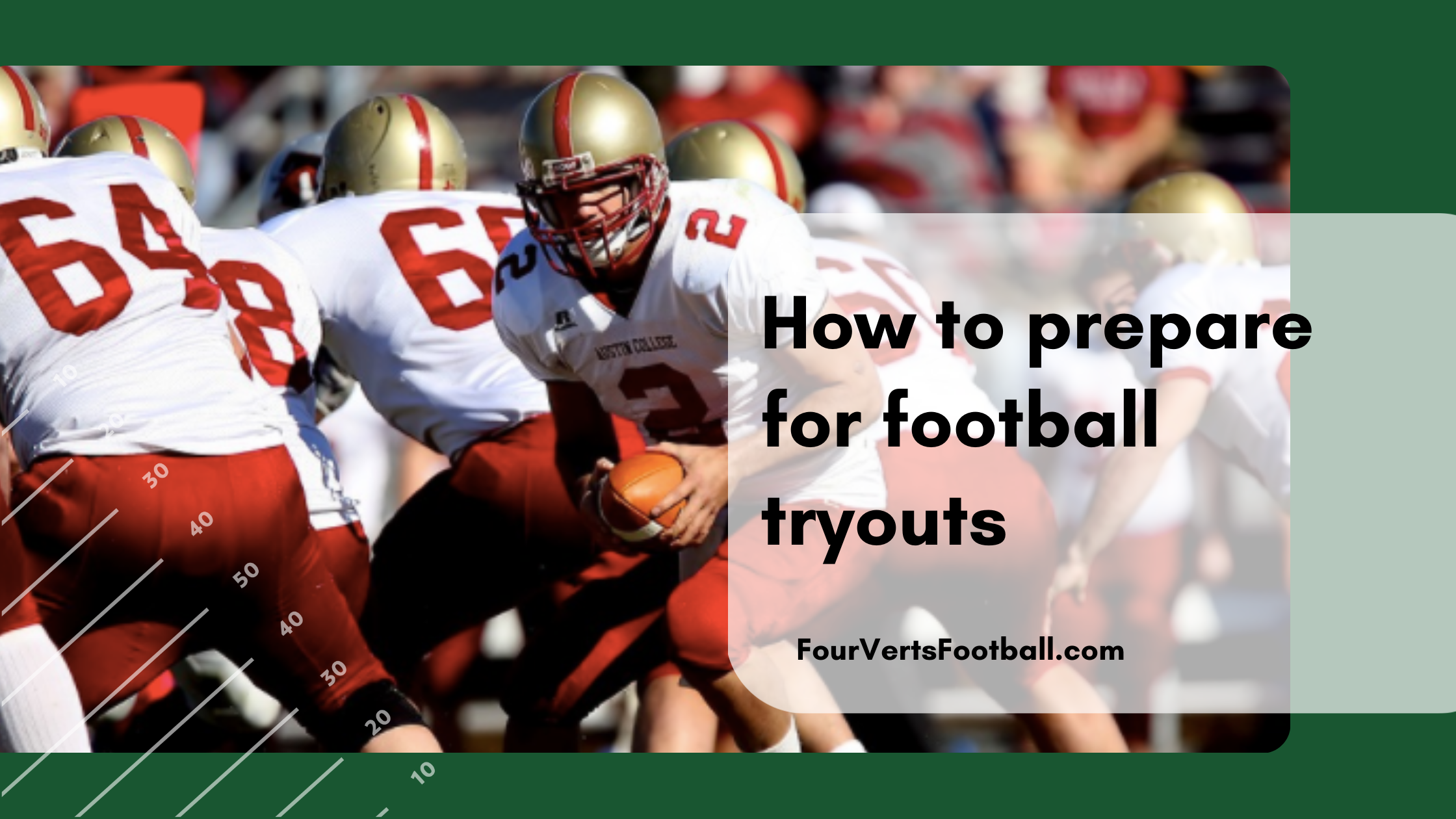 prepare for football tryouts