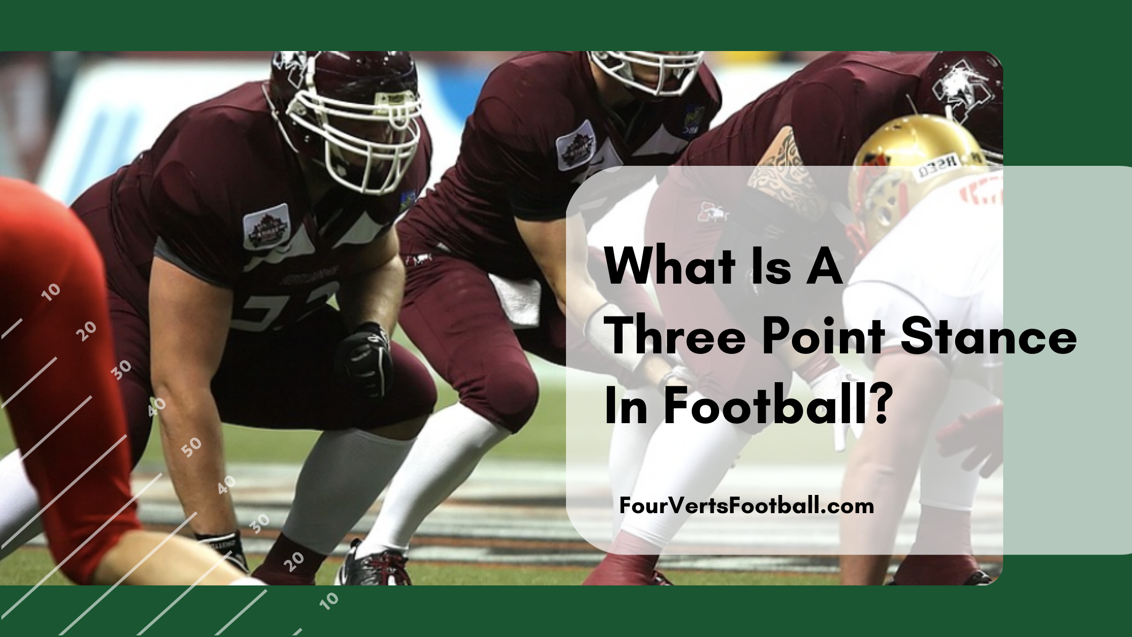 what is a three point stance