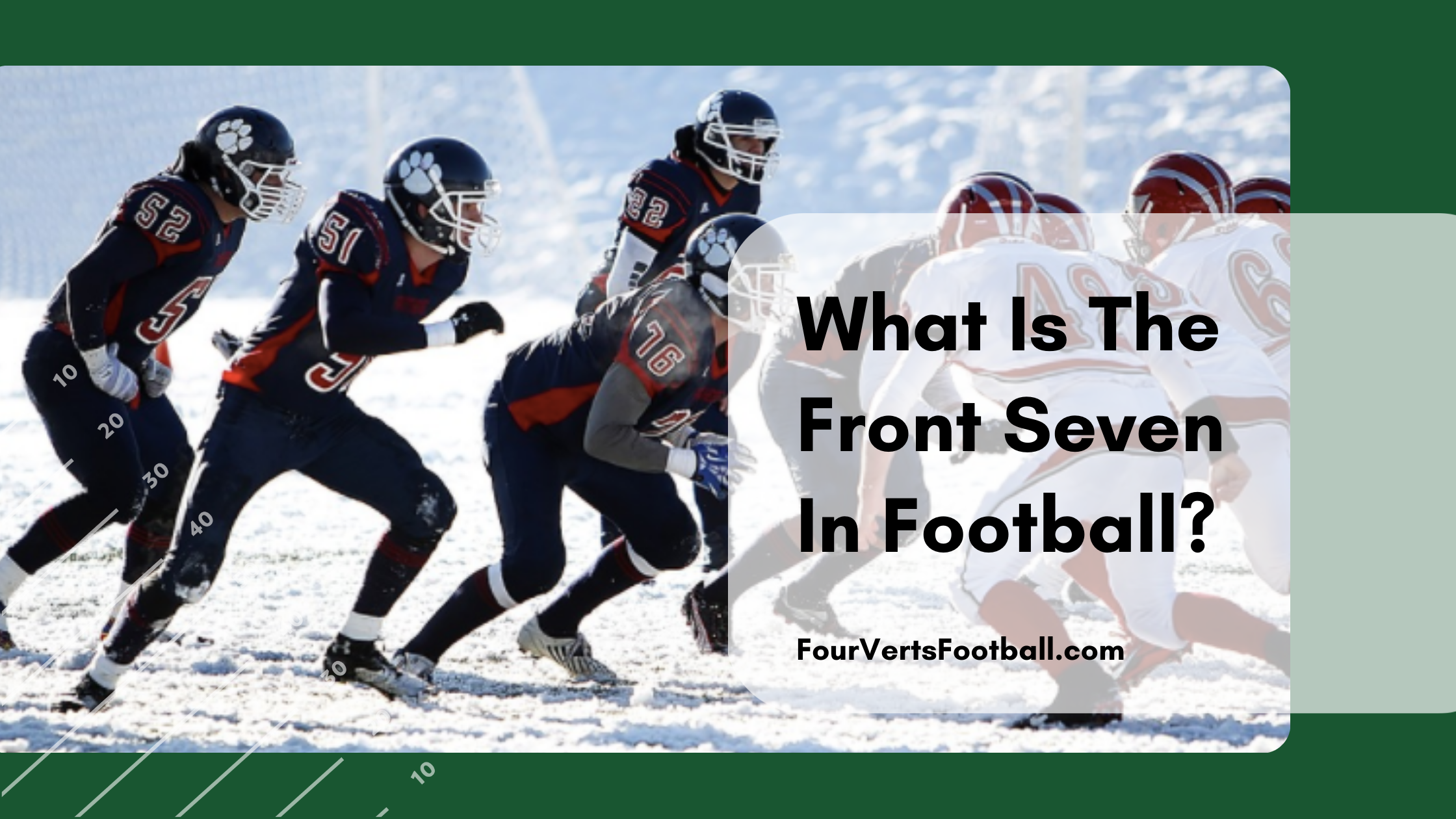 front seven in football